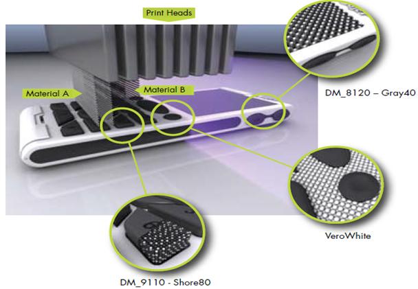 impression 3d technologie polyjet cad 39 indus. Black Bedroom Furniture Sets. Home Design Ideas